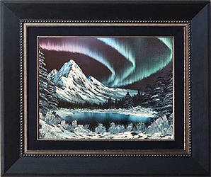 ÖL Malkurs nach Bob Ross - Northern Lights